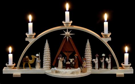 candle arch nativity scene 47 cm 19in by m 252 ller kleinkunst
