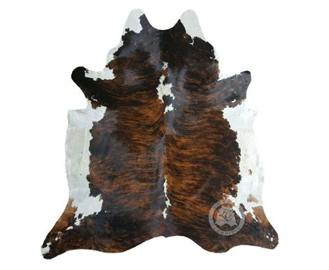 Cowhide Rugs by New Cowhide Rug Leather Brindle White Backbone 6
