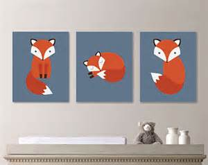 Fox Nursery Decor Baby Boy Nursery Boy Nursery Decor Fox Print Fox Nursery Boy Bedroom Boy