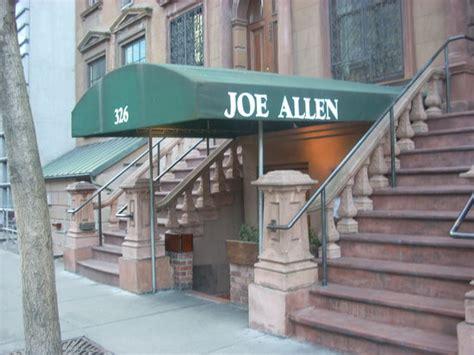 awning companies nyc joe allen new york city midtown menu prices