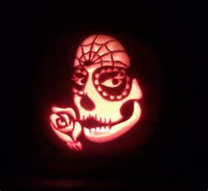 Day Of The Dead Pumpkin Template by Dia De Los Muertos By Yarrow On Deviantart