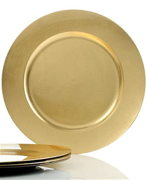 gold dining set plates charter club dinnerware set of 4 gold charger plates