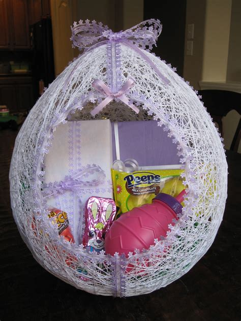 How To Make A Easter Basket Out Of Paper - make an egg shaped easter basket from string hmh designs