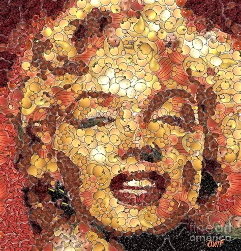 painting images marilyn monroe on the way of arcimboldo painting by