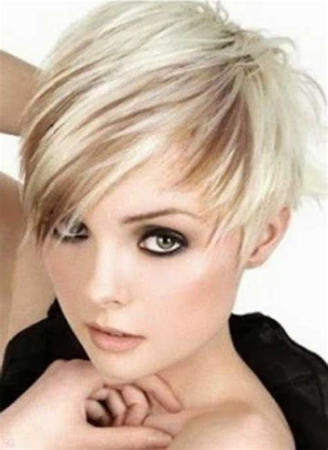 platinum hairstyles with some brown brown pixie cut with platinum lowlights dark brown hairs