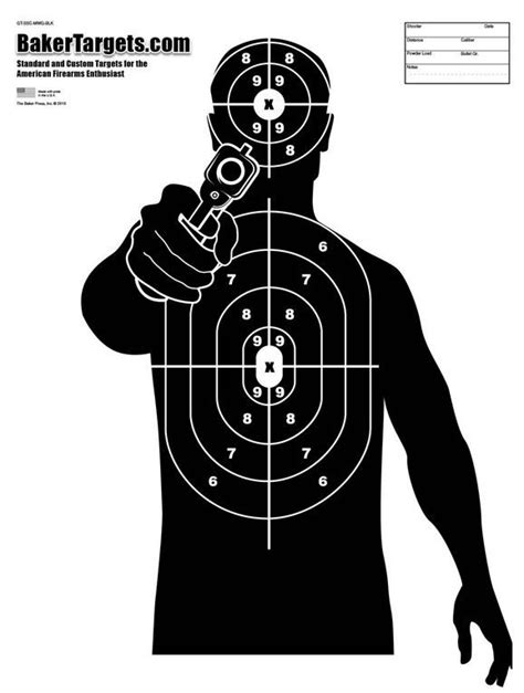tactical shooting targets printable baker target pinteres