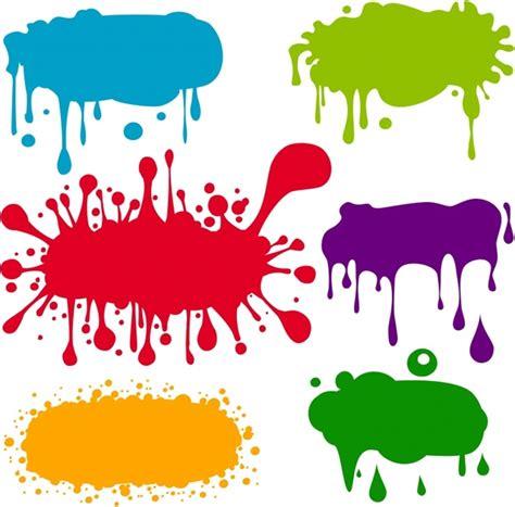 color inc grunge ink marks icons multicolored flat splashing decor