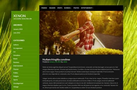 theme wordpress xenon 20 absolutely free wordpress themes in 2013 ginva