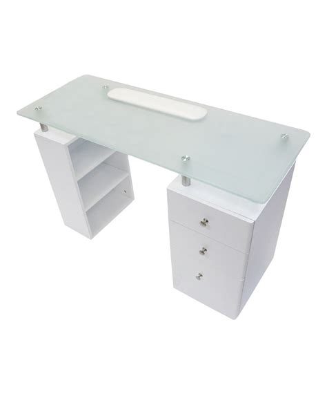 white desk with glass top white glass top desk hostgarcia