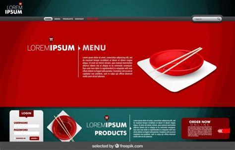 free design vector websites chinese restaurant web design vector free download
