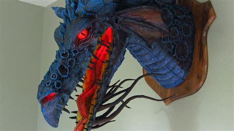 How To Make A Paper Mache Trophy - paper mache trophy of maleficent
