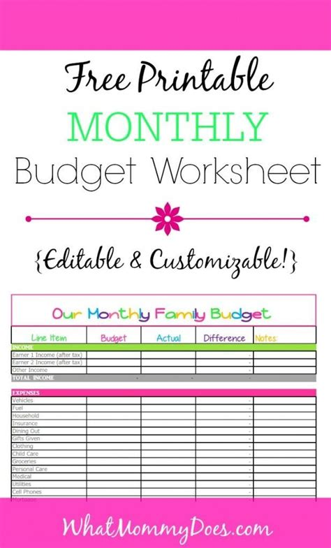 template for budgeting money free monthly budget template design in excel