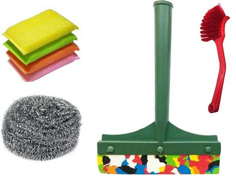 Cleaning Set Kokaii 6 In 1 Original Kokaii arisers enterprises cleaning sink brush scrubber and wiper home cleaning set price in india