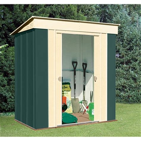 Metal Sheds 6 X 6 by 6 X 4 Deluxe Pent Metal Shed