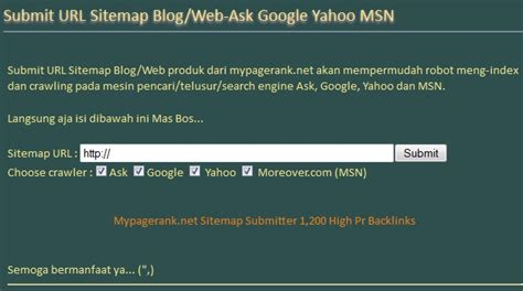 ask submit links hello beautiful this blog is dedicated submit url sitemap blog web ask google yahoo msn