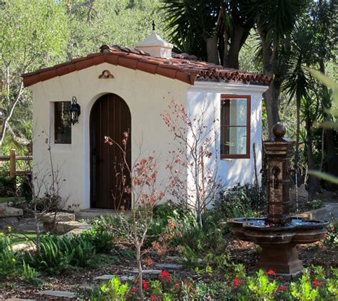 style your she shed spanish style she shed santa barbara home design