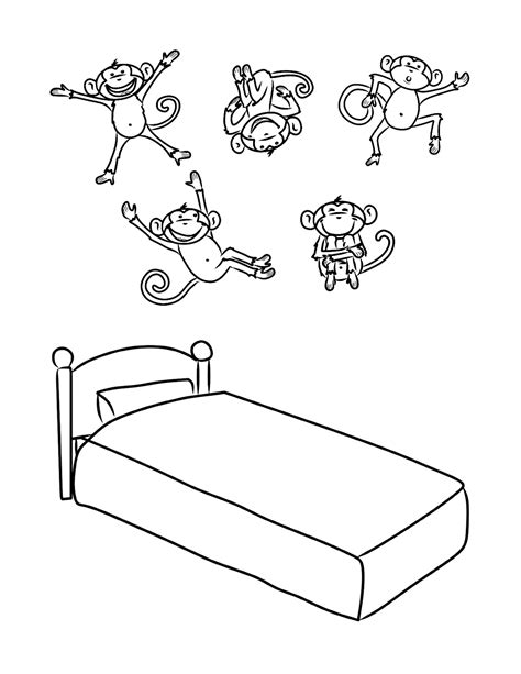 ten little monkeys coloring page bust out your crayons 5 little monkeys art pinterest