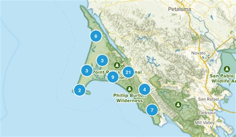 point reyes national seashore map best trails in point reyes national seashore california