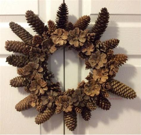 dollar store diy pine cone wreath allfreechristmascrafts