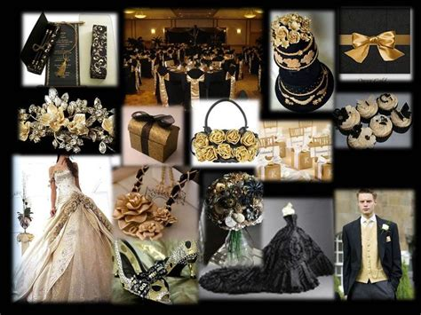 themes black gold black gold wedding theme future wedding pinterest