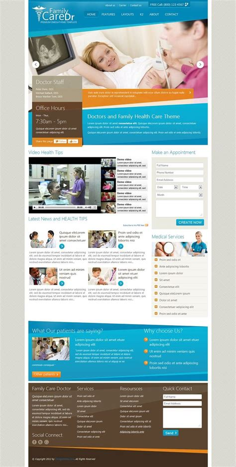 template joomla hospital 14 best images about hospital brochures on pinterest
