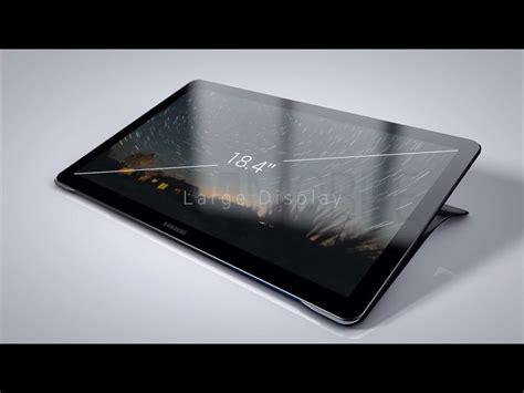 galaxy tablet here s how the 18 4 inch samsung galaxy view tablet looks like