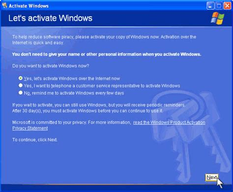 reset xp 30 days activation bypass windows xp product activation my nix world