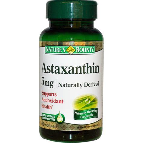 Suplemen Astaxanthin Nature S Bounty Astaxanthin 5 Mg 60 Softgels Iherb