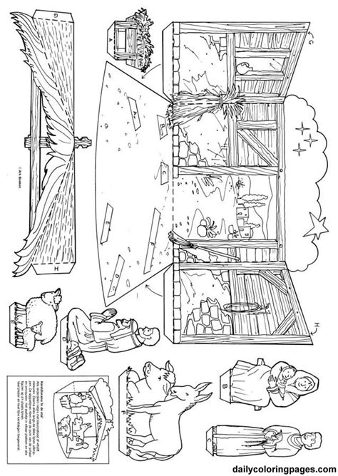 Free Coloring Pages Of Nativity Template Coloring Pages Nativity Free Printable