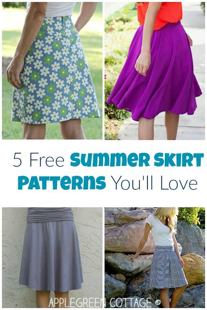 a for all time sewing patterns 5 free summer skirt patterns you ll applegreen cottage