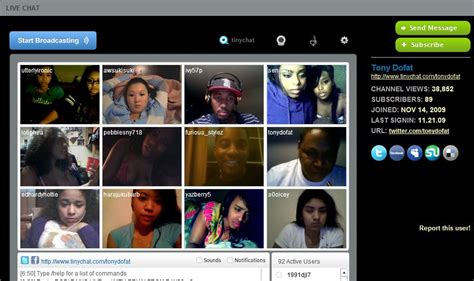 chat room tinychat networking