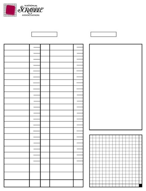 scrabble sheets scrabble score sheet for free formtemplate