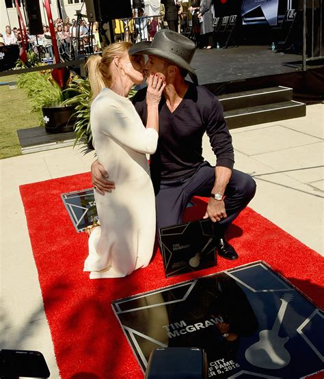 Tim Mcgraw Receives A On The Walk Of Fame faith hill and tim mcgraw receive on city walk