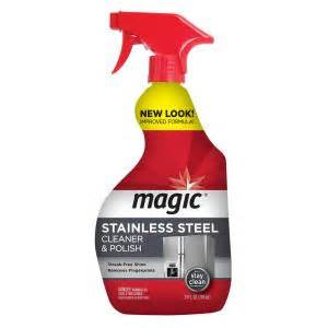 magic stainless steel cleaner magic 24 oz stainless steel cleaner 3057 the home depot