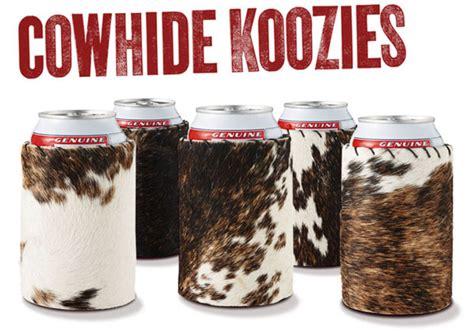 Cowhide Koozie cowhide koozies the awesomer