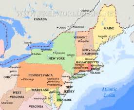 map of northeast northeastern us maps