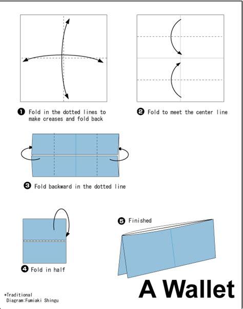 making origami wallet diagram
