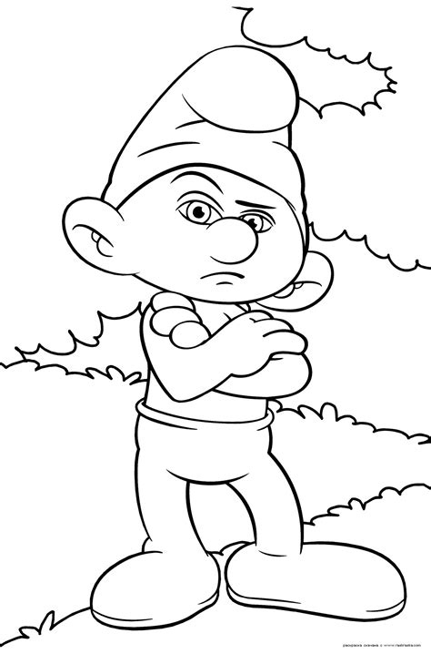 picture of to color smurfs coloring