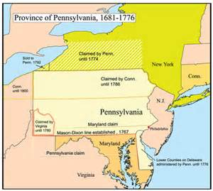 Pennsylvania Colony Map by History Of Pennsylvania Wikipedia The Free Encyclopedia