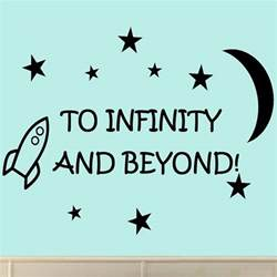 Infinity And Beyond Quotes To Infinity And Beyond Vinyl Wall Decals Quotes Room