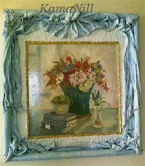 Decoupage Photos On Canvas - obraz w ramie retro decoupage decoupage inspirations