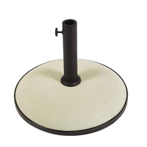 Patio Umbrella Bases Fiberbuilt Umbrellas 55 Lb Concrete Patio Umbrella Base In White Cb19w The Home Depot