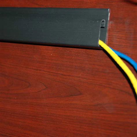 baseboard with wire channel j channel hide and route wires