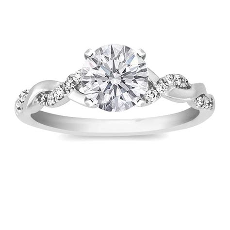Wedding Bands For Twisted Engagement Rings by Engagement Ring From Mdc Diamonds