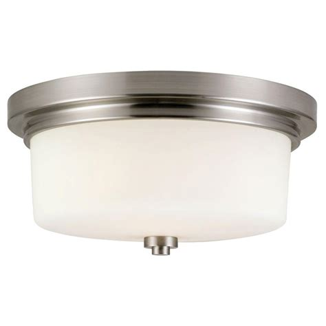 design house lighting reviews design house aubrey 2 light brushed nickel ceiling mount