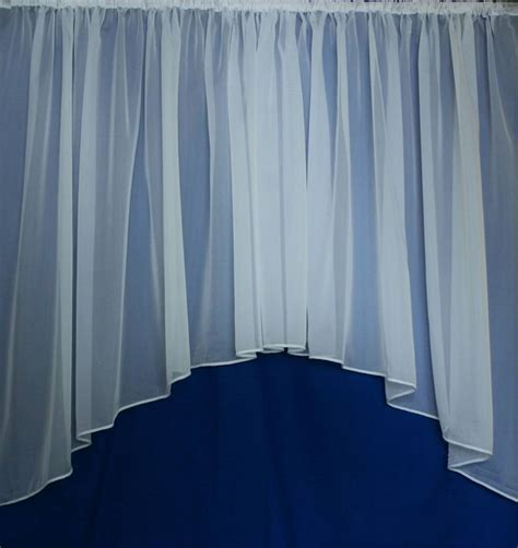 lead curtain montana white voile jardiniere with lead weighted base