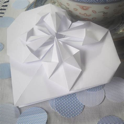 Origami Thank You - white origami thank you card by paperbuzz