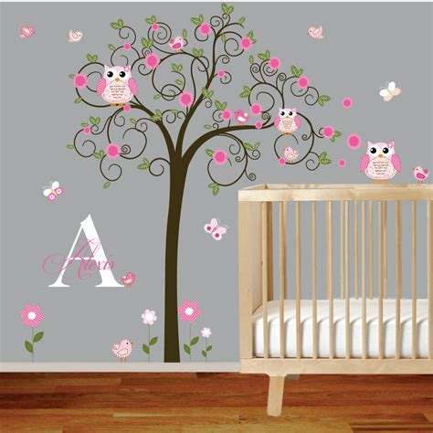Tree Murals For Nursery Tree Wall Decal Nursery Vinyl Owl Wall Decals For Nursery