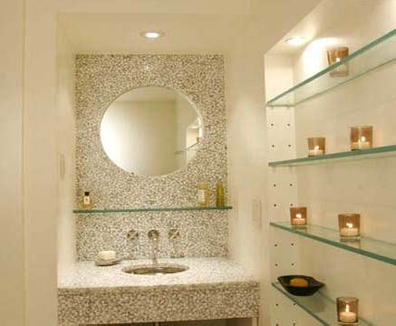 Bathroom Mirror With Glass Shelf Glass Shelf Bathroom Mirror Adds Space Without Adding Bulky Look Laundry And Bathroom