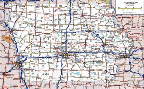 highway map with cities iowa highway